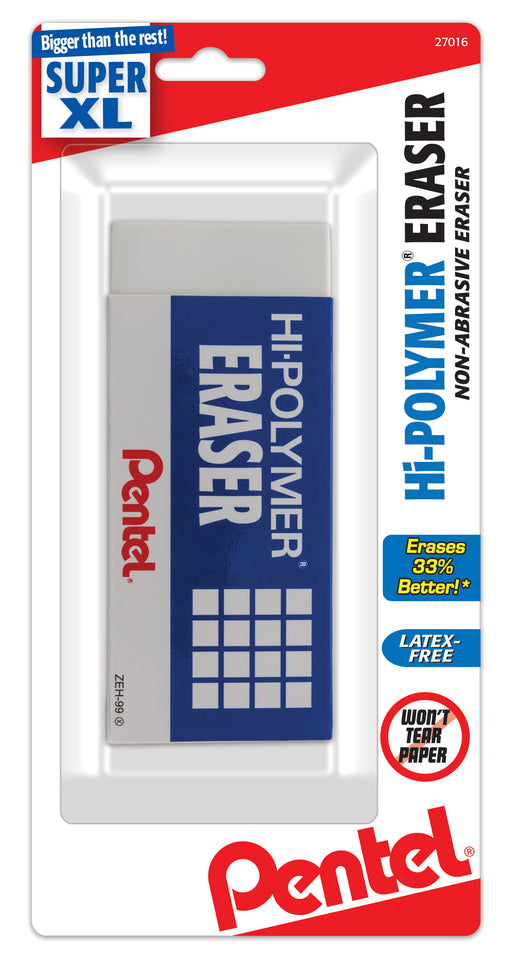 Hi-Polymer Block Eraser, Super XL White, 1-Pk