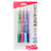 RSVP Super RT Ballpoint Pen, (0.7mm) Fine Line, Assorted Ink, (DPSV), 4-Pk