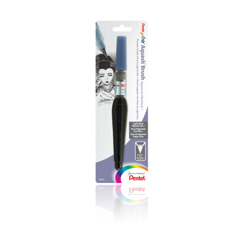 Aquash™ Brush with Pigment Ink - Light Black