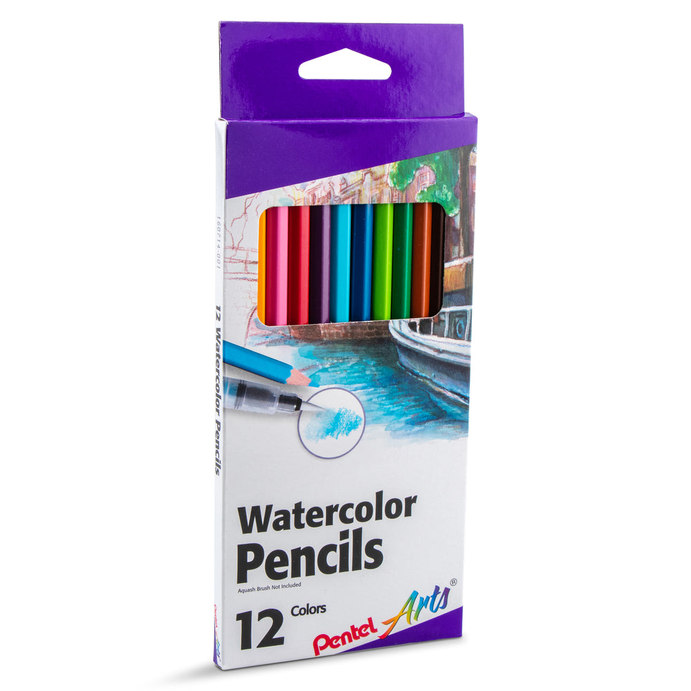 Pentel Arts Watercolor Pencil Set - Assorted Colors, 12-Pack