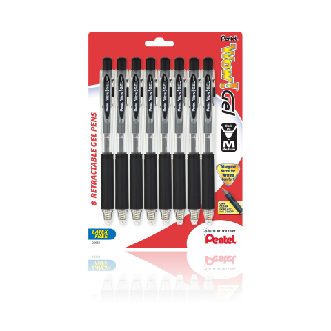 WOW! ™ Gel Pen, Black 8 Pack