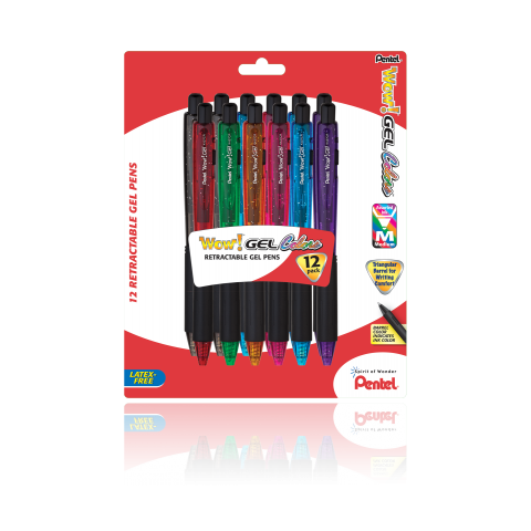 WOW! ™ Gel Colors Pens, Assorted 12 Pack