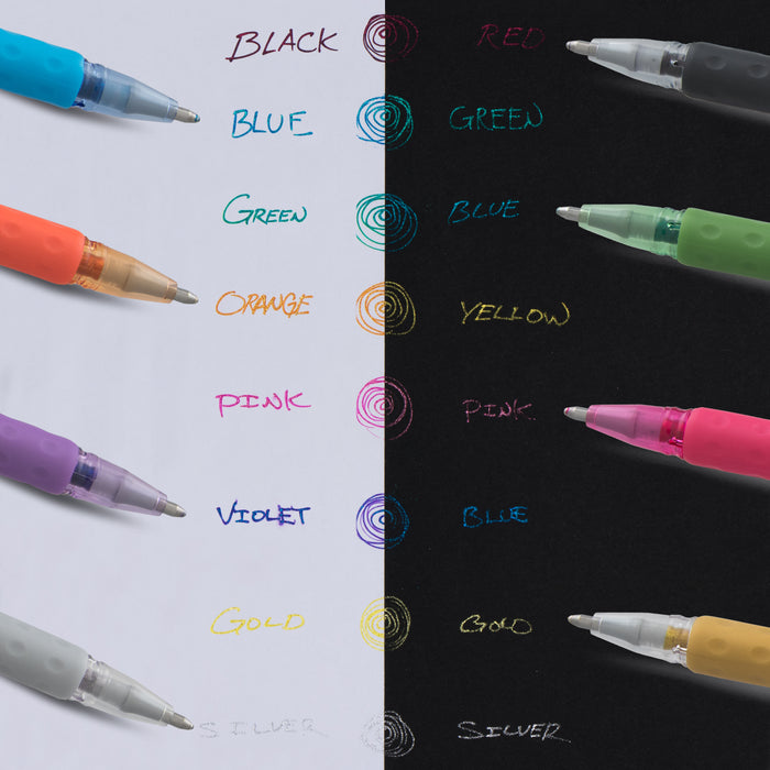 Assorted Color... Pentel Arts Sparkle Pop Metallic Gel Ink Pen 1.0mm Bold Line