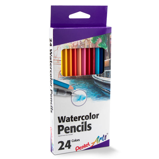Pentel Arts Watercolor Pencil Set - Assorted Colors, 24-Pack
