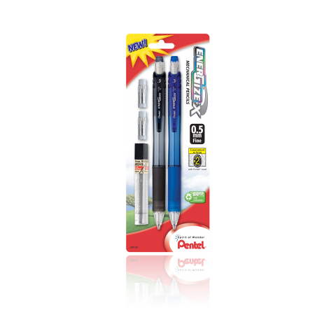 EnerGize-X™ Mechanical Pencils with Lead Refill and 2 Erasers
