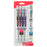 EnerGel Pearl Retractable Liquid Gel Pen, Needle Tip (0.7mm) Medium Line, Assorted Ink (A/B/C/V), 4-Pk