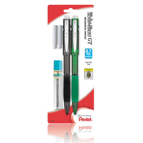 Twist-Erase® GT Mechanical Pencils with Lead Refill and 2 Erasers