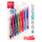 RSVP Mini Ballpoint Pen, (1.0mm) Medium Line, Assorted Ink (A/B/C/D/F/P/S/V) w/ Key Ring, 8-Pk