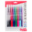 RSVP Super RT Ballpoint Pen, (1.0mm) Medium Line, Assorted Ink (2A/B/C/D/P/S/V), 8-Pk
