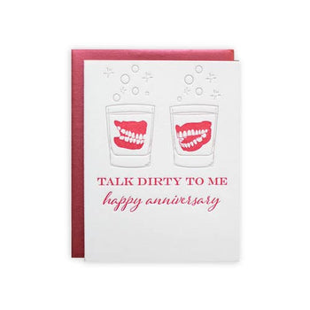 Dentures Anniversary Greeting Card