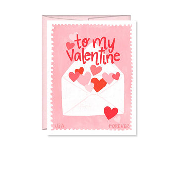 To my Valentine, Happy Valentine's Day Greeting Card