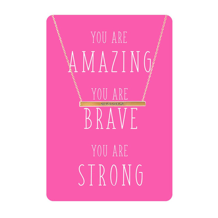 You are Amaing, Brave, Strong Necklace Card