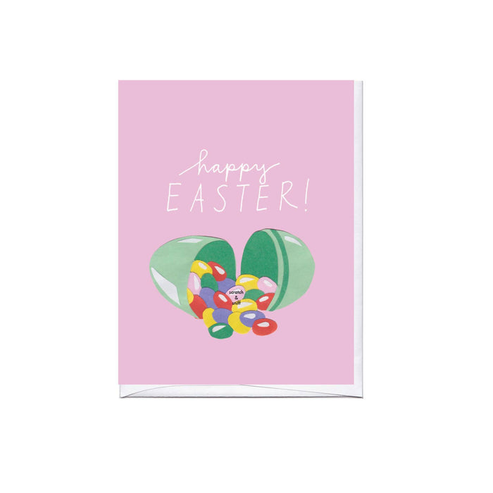 Scratch & Sniff Jelly Beans Easter Greeting Card