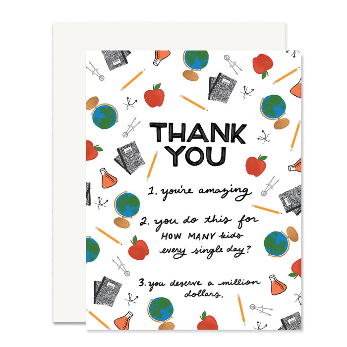 Teacher Thank You (from Parent) Card