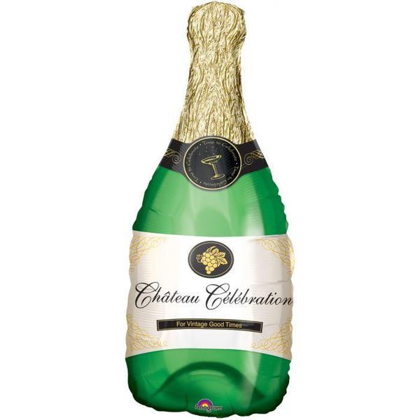 Champaign campaign celebration balloon perfect for any special event looks like  a real champagne bottle