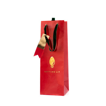 Getting lit wine gift bag is the perfect holiday gift bag for your wine gifts