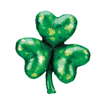 Shimmering Holographic Shamrock Balloon perfect for your St. Patrick's day party