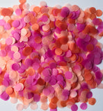 Confetti balloon confetti - orange sherbert confetti in colors of orange, pink and blush