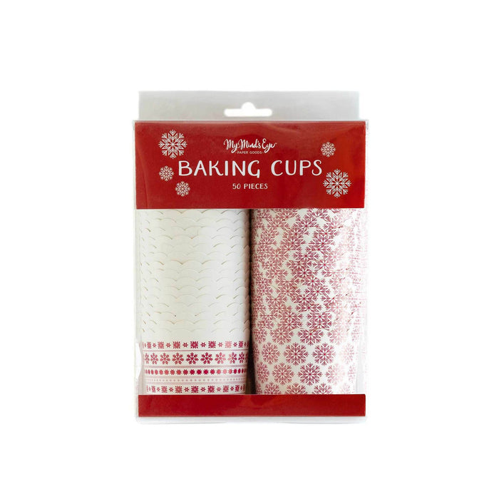 Nordic Snowflake Baking Cups