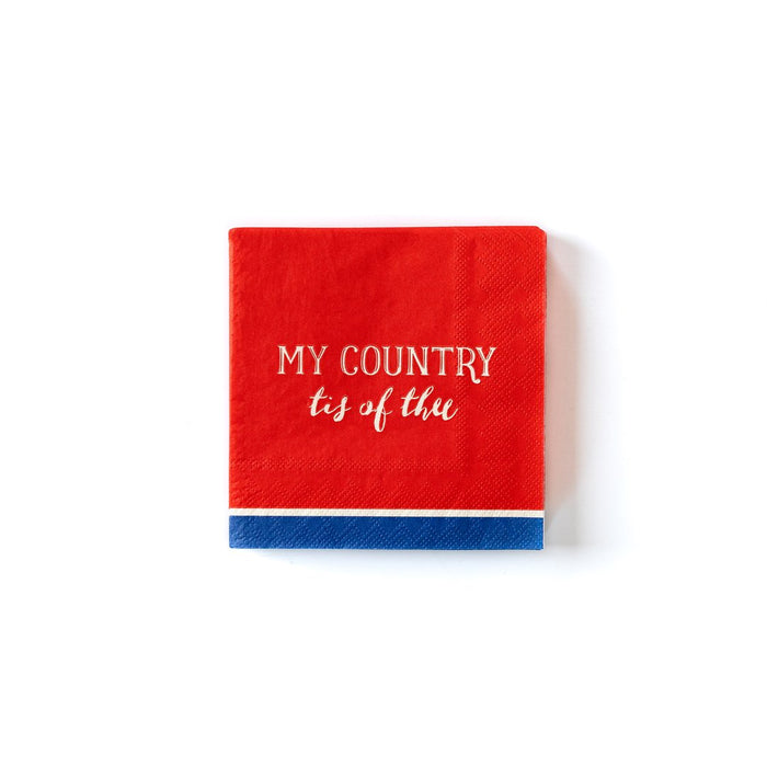 My Country Tis of Thee Cocktail Napkins
