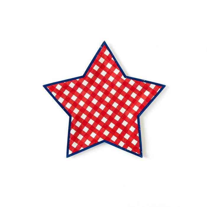 Red, White, & Blue Star Shaped Plates
