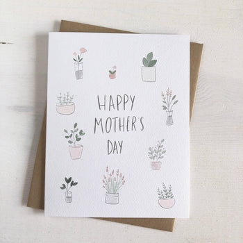 Mother's Day Plants Greeting Card