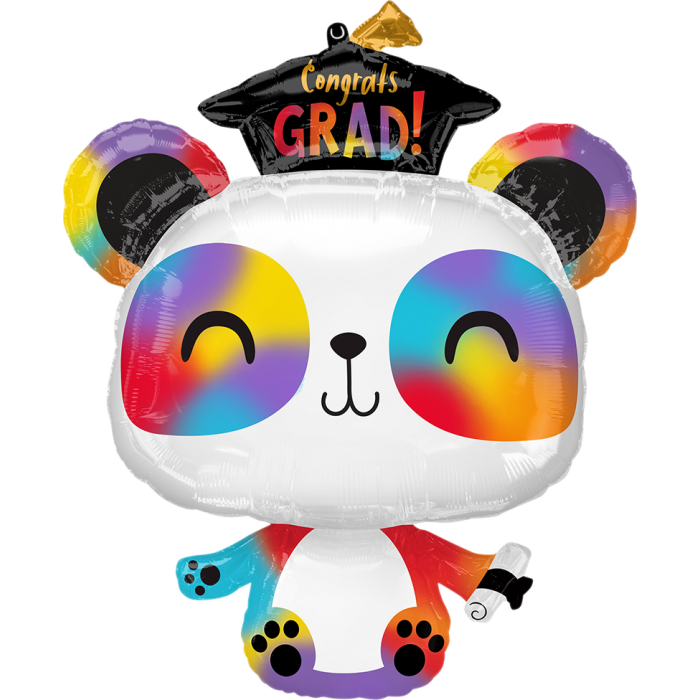 Rainbow Panda Grad Balloon