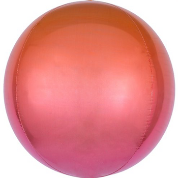 Red & Orange Ombre Orb