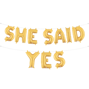 She Said Yes Balloon Garland
