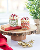 Vintage Holly & Santa Baking Cups