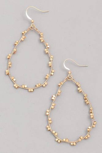 Teardrop Wire Drop Earrings