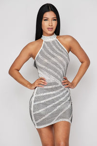 Zari Rhinestone Dress