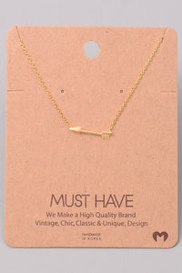 Classic Arrow Pendant Necklace