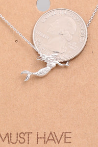Swimming Mermaid Necklace