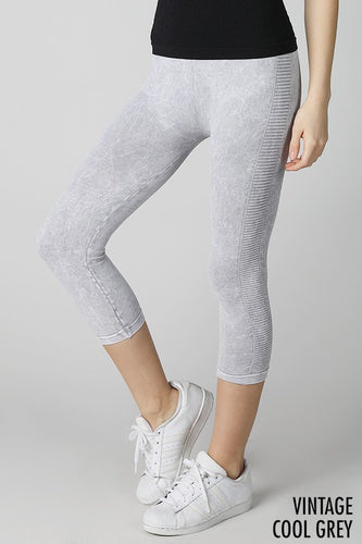 Rylee Ladder Leggings in Vintage Grey