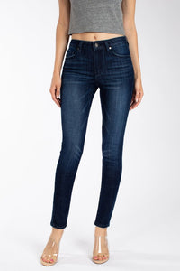 Claire Mid Rise Dark Skinny Jeans