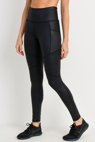 Jacey Black Moto Leggings