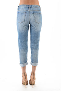 Frankie Low Rise Girlfriend Jeans