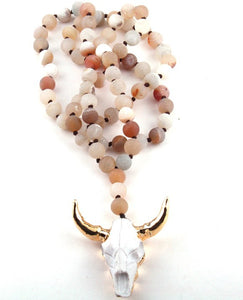 Silvey Skull Necklace