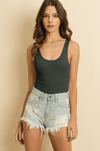 Zoey Bodysuit in Olive