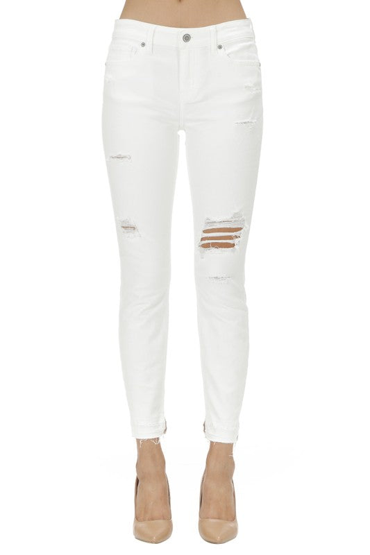 Josie Skinny Crop in White