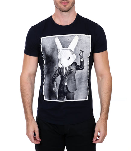 Navy Rabbit T-Shirt