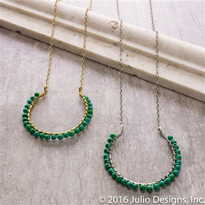 Bahia Necklace in Green/Silver