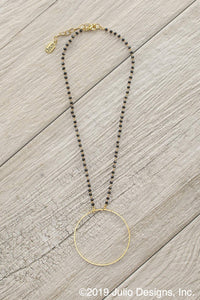 Becki Hoop Necklace in Black