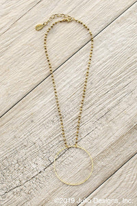 Becki Hoop Necklace in Gold