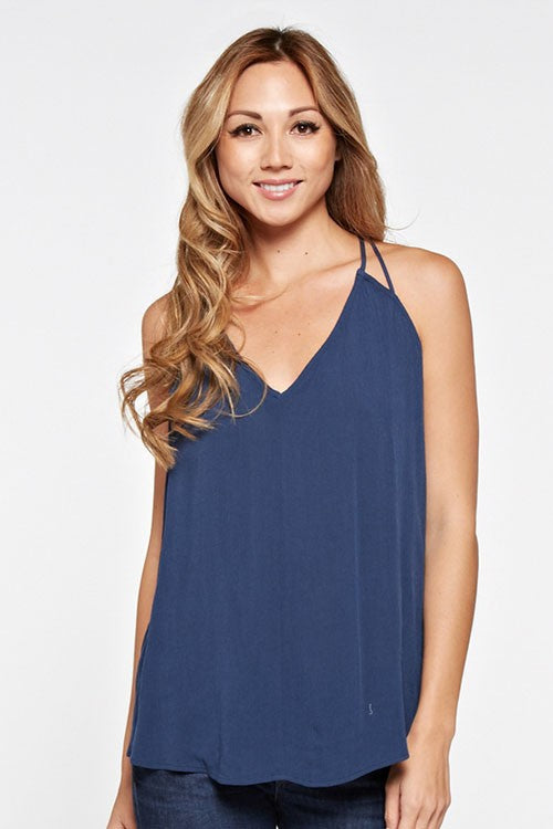 Tessa Tank in Navy