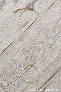 Becki Hoop Necklace in Blush