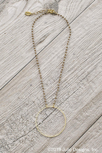Beckie Hoop Necklace in Grey
