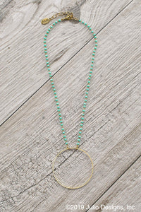 Becki Hoop Necklace in Turquoise