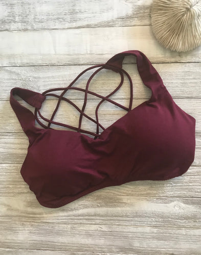 Casey Bralette in Burgundy